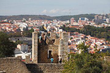 Turm des Castelo Sao Jorge, Lissabon, Portugal