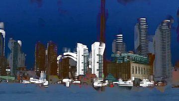 36. Toronto nightvision (stedelijk landschap) van Alies werk