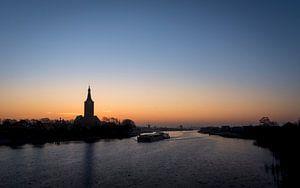 Hasselt (NL) net voor zonsopgang van