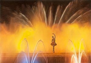 Balletdanseres in fontein