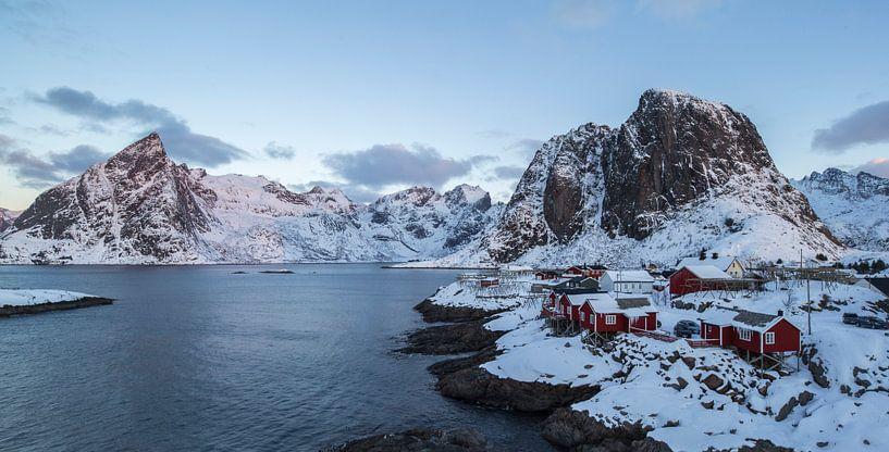 Rorbu - Hamnoya Noorwegen van Babs Boelens