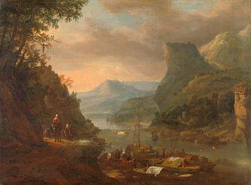 Flussblick in einer Bergregion, Herman Saftleven