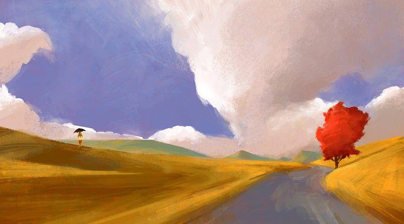 Raining Sunbeams von Ontsnap landschap