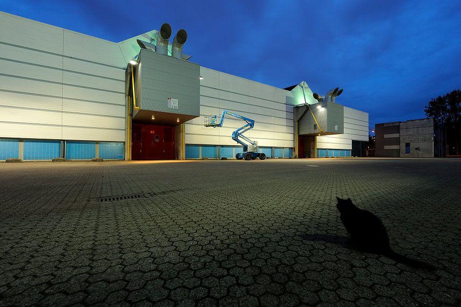 De achterzijde van de Jaarbeurshallen in Utrecht