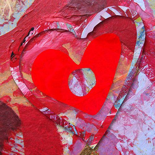Groot rood hart 2 van Eva van den Hamsvoort