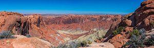 Panorama van het landschap in Canyonlands, Utah