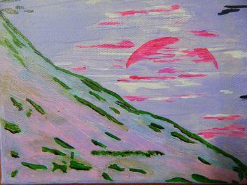 Sonnenuntergang am Berg van Peggy Gennrich