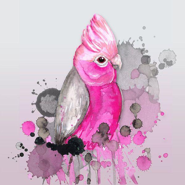 Roze kaketoe van Bianca Wisseloo