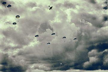 Fallschirm-Landung Market Garden Groesbeek von StudioSchulteSchultz
