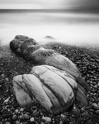 Rots op strand Imachar, Arran