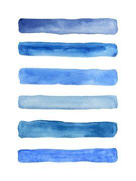 Streifen darunter / Blaues Gefühl Serie 1 von 4 von Natalie Bruns