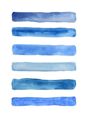 Streep eronder / Feeling blue serie 1 van 4