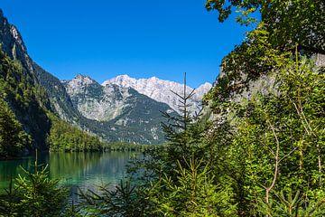 Uitzicht op de Obersee in het Berchtesgadener Land van Rico Ködder