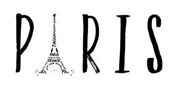 PARIS Typografie | Panorama  von Melanie Viola