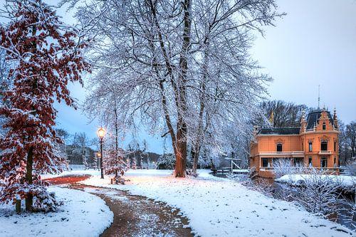 Borg Nienoord Leek in de sneeuw