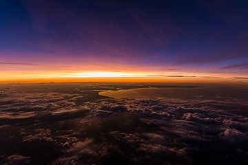 Vogelperspectief van de zonsondergang van Denis Feiner