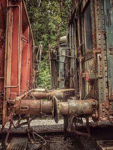 Verlaten treinstel van