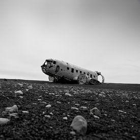 IJsland, vliegtuigwrak van Ron van der Stappen