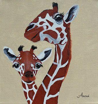 Giraffen  sur Iwona Sdunek alias ANOWI