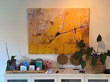 Kundenfoto: The little yellow flower von Gabi Hampe, auf leinwand
