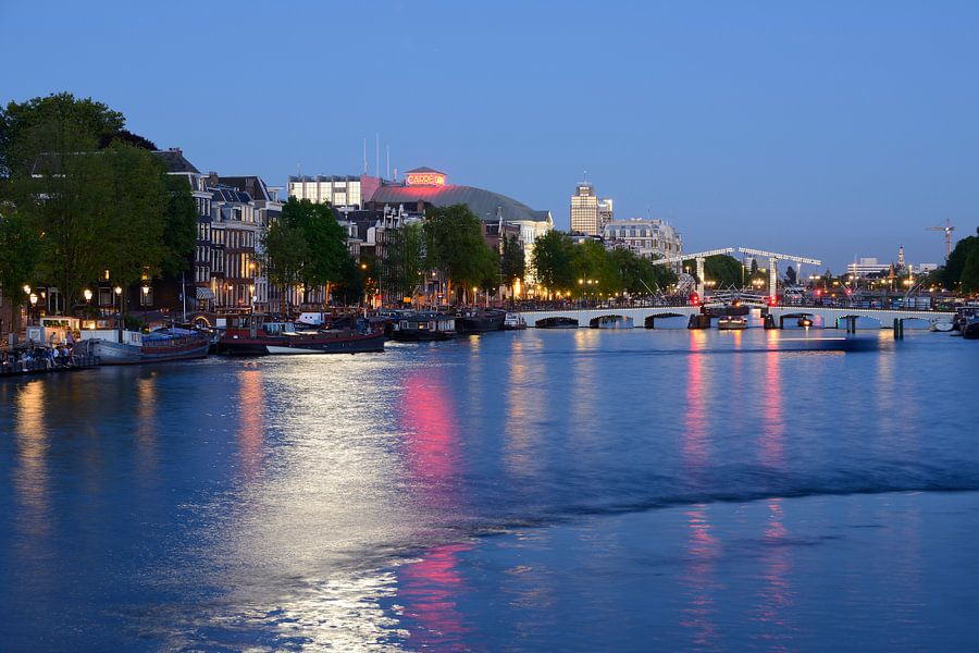 Amstel in Amsterdam met Magere Brug