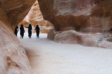 Al Siq Desert Gorge in Petra (Jordanië) van Christoph Kötteritzsch