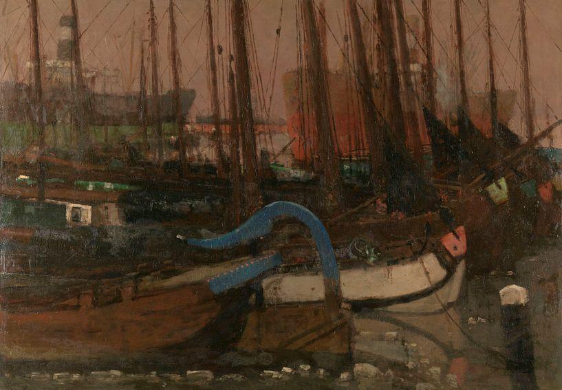 Schiffe im Eis, George Hendrik Breitner, 1901 von Marieke de Koning