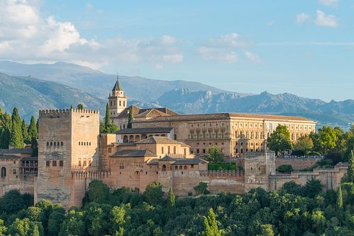 Alhambra Paleis, Granada, Andalusië, Spanje