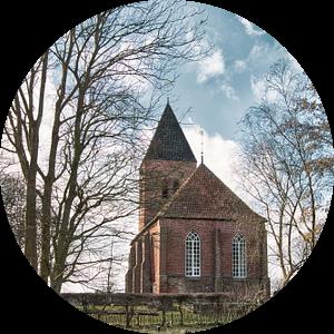 Mariakerk in Westerwijtwerd (provincie Groningen) van Annie Postma