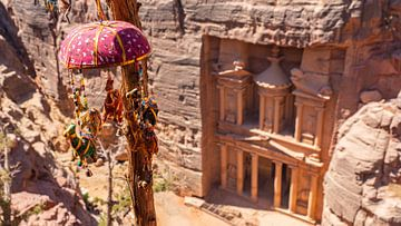 Petra von oben (Jordanien) von Jessica Lokker
