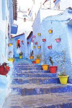 De blauwe stad in Marokko Chefchaouen van Bianca Kramer
