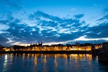 Sunset Maastricht 3 van Peter van Bastelaar