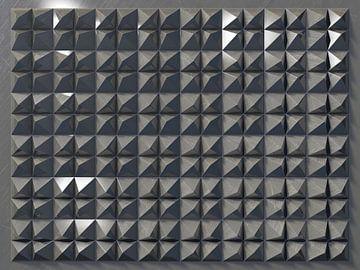 Reliëf 2016 C3 Aluminium van Frans Blok