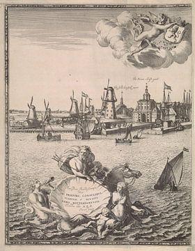 Gezicht op Rotterdam, Joost van Geel, na 1666 - 1698