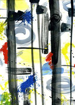 """Abstract """" spontaan """" van Claudia Gründler"""