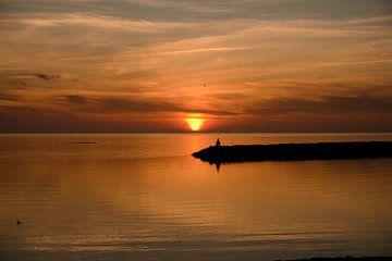 Le soleil s'enfonce dans la mer