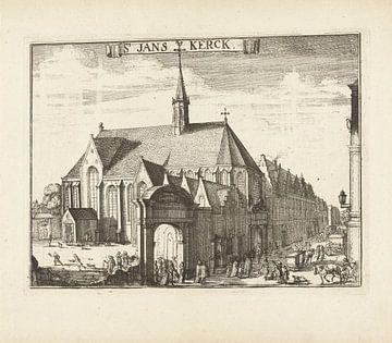 Blick auf die Janskerk in Haarlem, Romeyn de Hooghe