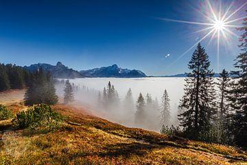 Boven de wolken schijnt de zon van Coen Weesjes