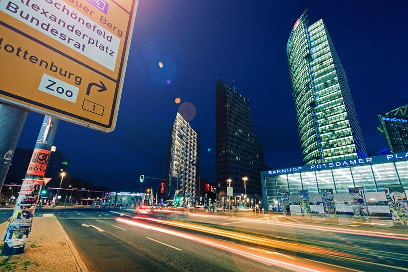 Berlin by Night – Potsdamer Platz van Alexander Voss