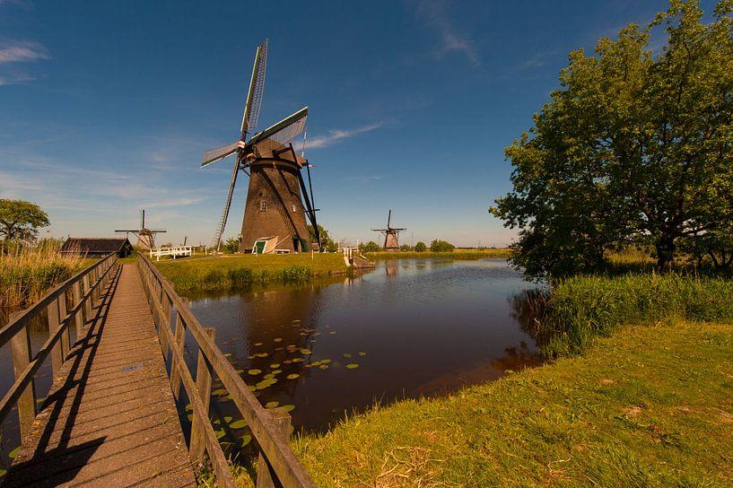 Kinderdijk .Holland Windmills van Brian Morgan