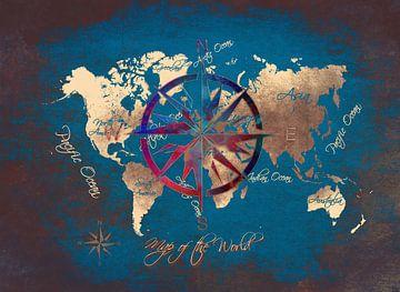Weltkarte 11 #Karte #Weltkarte von JBJart Justyna Jaszke