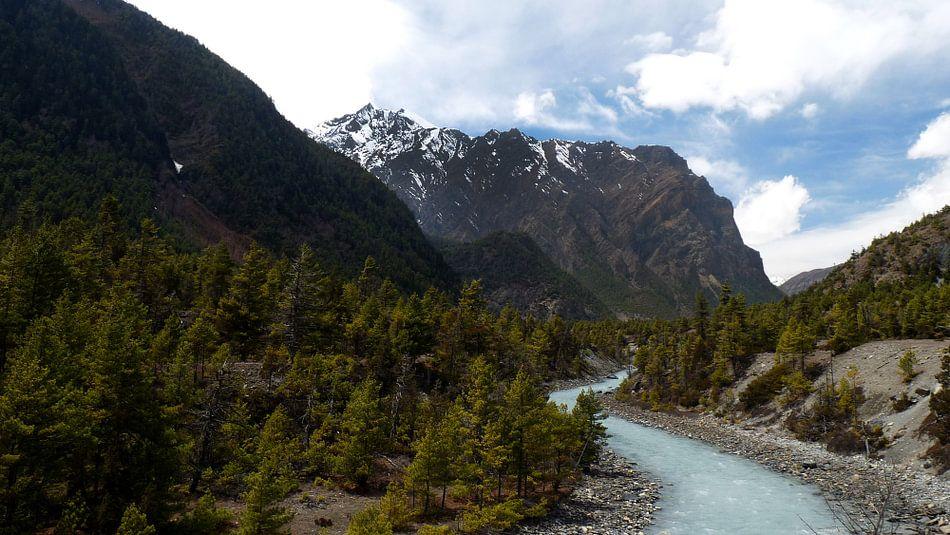 Marsiyangdi rivier in Nepal