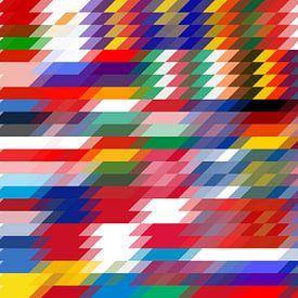Connexion parallèle des drapeaux européens sur Frans Blok