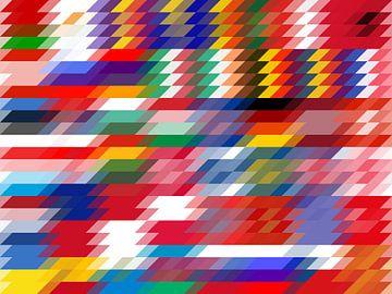 Parallelschakeling Europese vlaggen