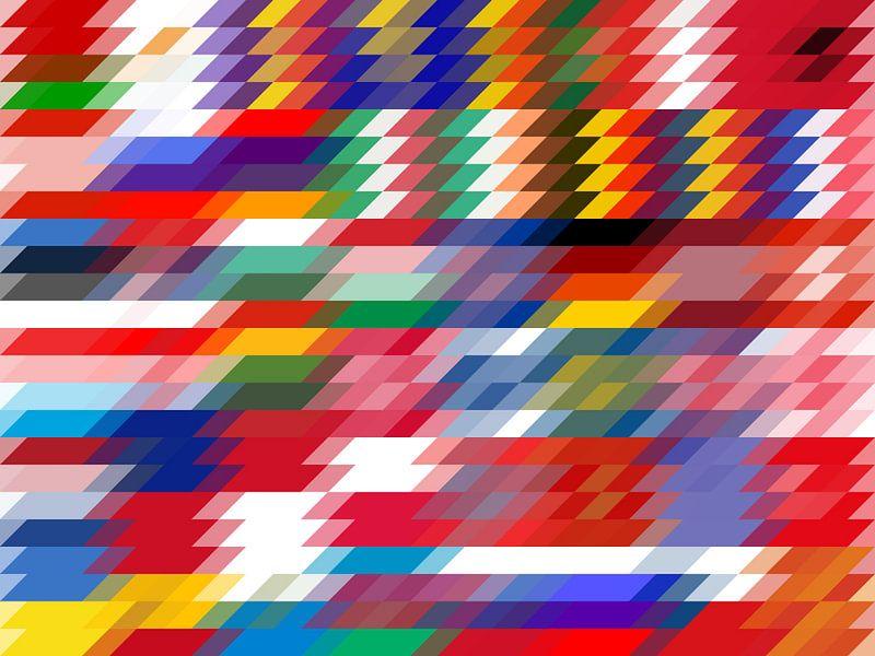 Parallelschakeling Europese vlaggen van Frans Blok