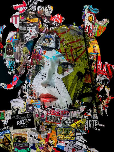 Red lips and stickers van Gabi Hampe