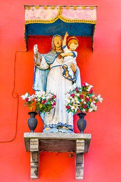 Maria met het kindje Jezus, Burano, Venetië van Lars-Olof Nilsson