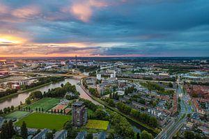Zonsondergang Utrecht, Hogeweidebrug