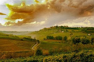 Toscane, zonsondergang van