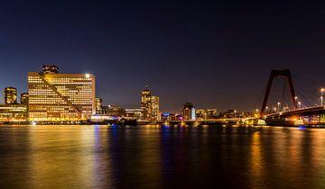 Rotterdam Willemsbrug en noordoever van